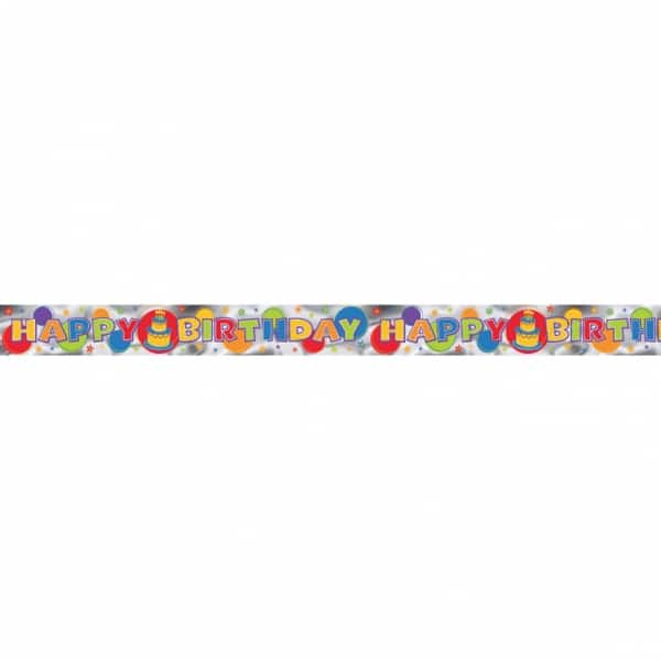 Happy Birthday 4 Yard Banner - 3.6m x 12.7cm-0