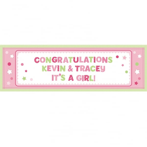 Little Princess Personalised Giant Banner - 1.65m x 50.8cm-0