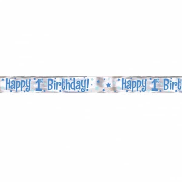 First Birthday Boy 12 Foot (4 Yard) Banner-0