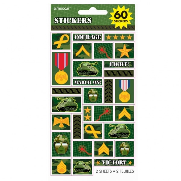 Camouflage Sticker Sheets - 20.3cm x 2 Sheets-0