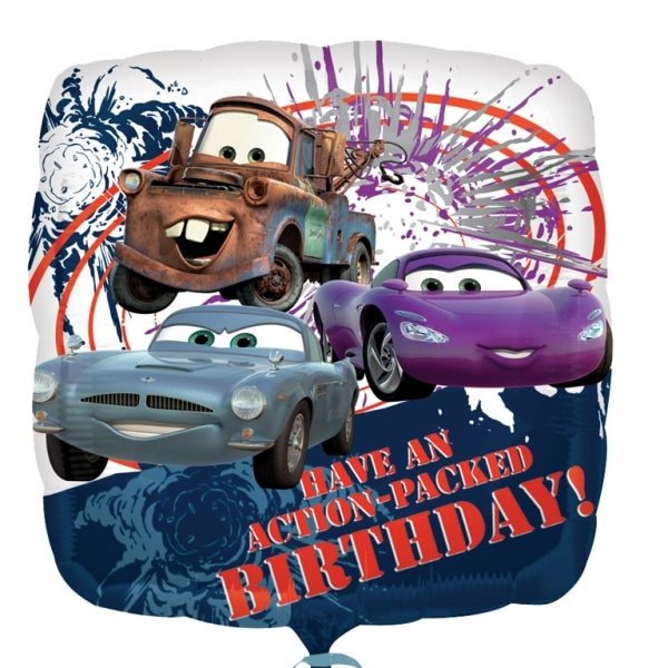 "Disney Cars Action Birthday Foil Balloon - 18""/45cm -0"