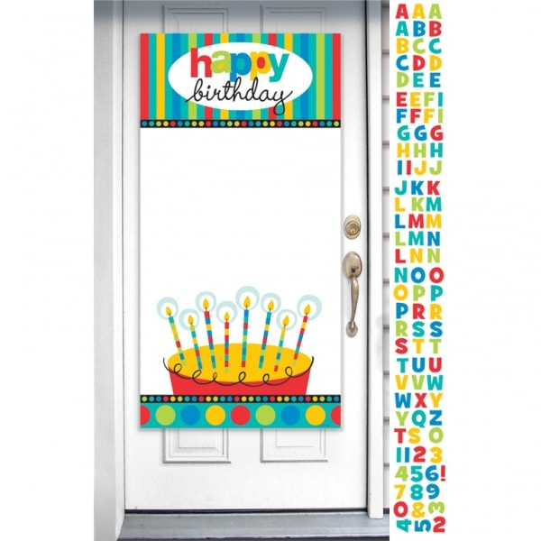 Dots & Stripes Personalised Door Banner - 1.65m x 85cm -0