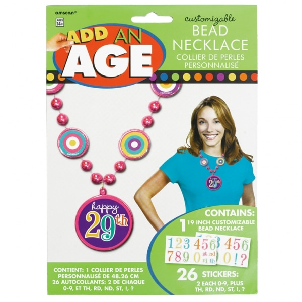 Dots & Stripes Add-an-Age Bead Necklace For Her - 50cm -0