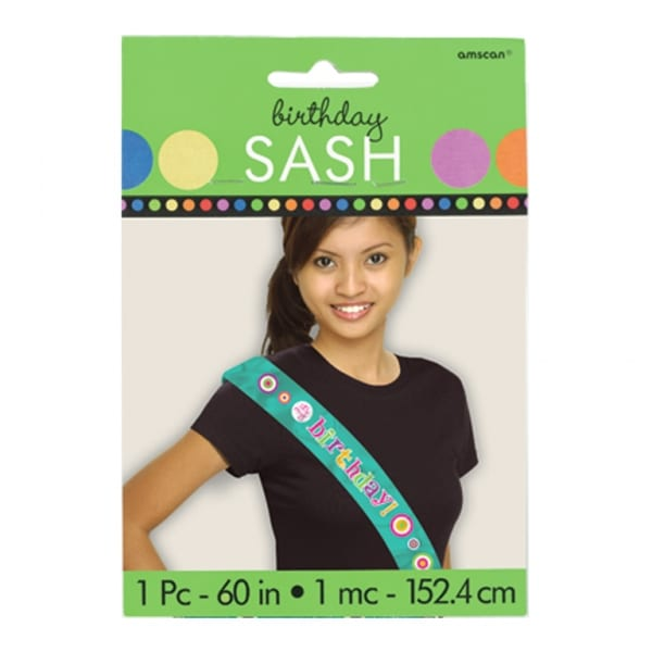 Dots & Stripes Happy Birthday Sash - 76.2cm-0