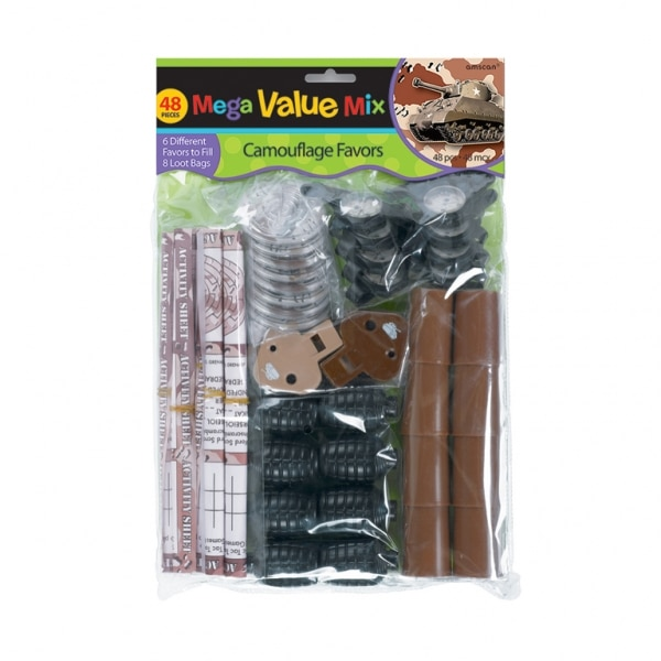 Camouflage Mega Mix Value Pack Favours - 31cm x 20.9cm - Pack of 48-0
