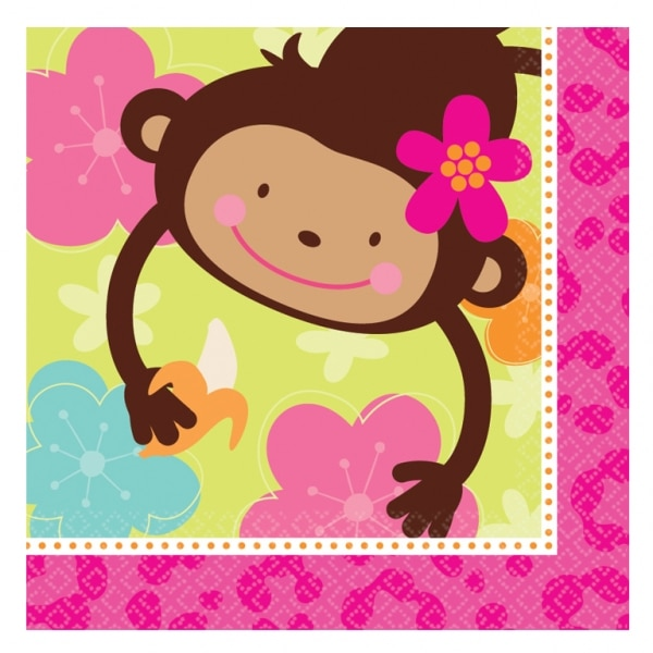Monkey Love Luncheon Napkins - Pack of 16-0