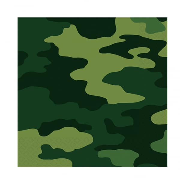 Camouflage Luncheon Napkins - Pack of 16-0