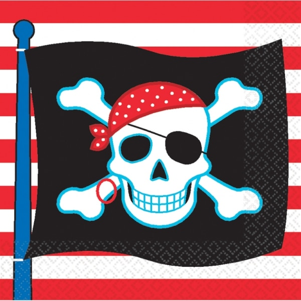 Pirate Party Luncheon Napkins - Pack of 16-0