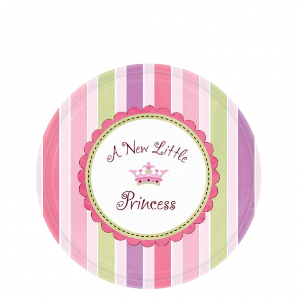 Little Princess Paper Plates 17.7cm - Pack of 8-0