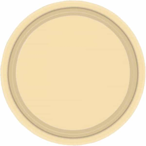 "9"" Vanilla Creme Paper Plates in Pack of 8-0"