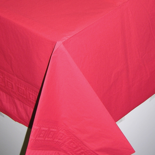 Red Paper Tablecover - 1.4m x 2.8m-0