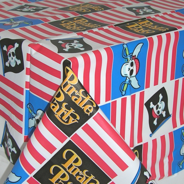 Pirate Party Plastic Tablecover - 137cm x 259cm-0