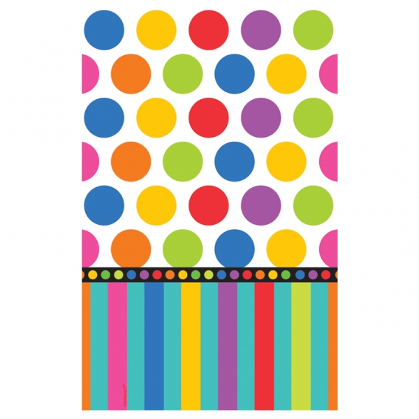 "Dots & Stripes Paper Tablecover - 54"" x 102""-0"