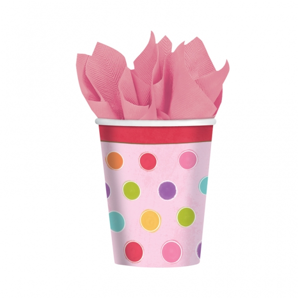 Sweet Stuff Party Paper Cups 266ml - Pack of 8-0