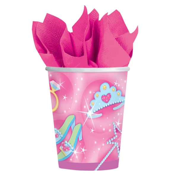 Princess Party Paper Cups 266ml - Pack of 8-0