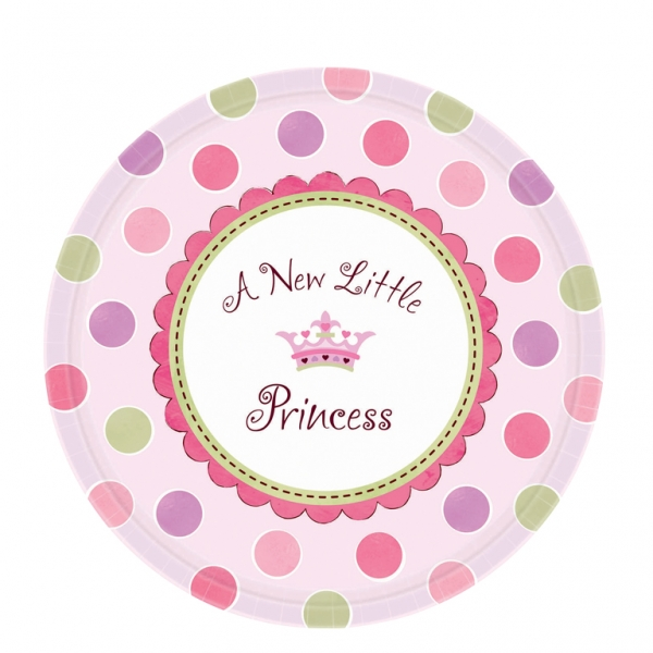 Little Princess Paper Plates 26.6cm - Pack of 8-0