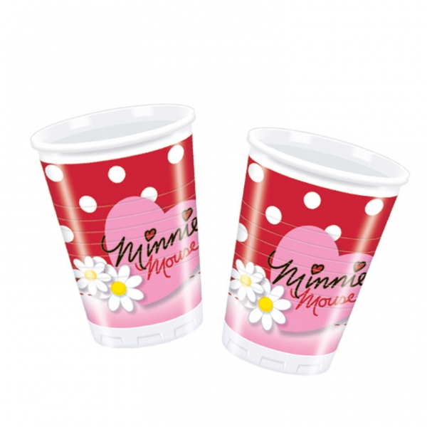 Minnie Mouse Polka Dots Plastic Cups 180ml - Pack of 10-0