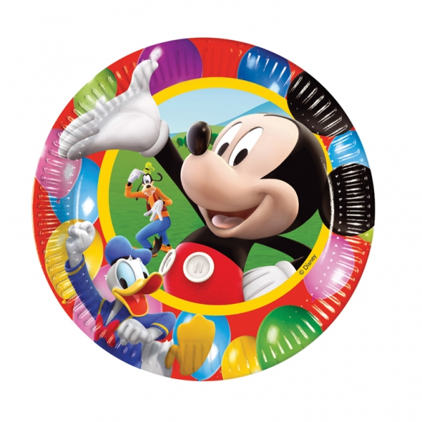 Mickey Mouse Paper Plates 23cm - Pack of 10-0