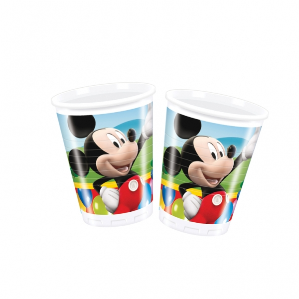 Mickey Mouse Plastic Cups 180ml - Pack of 10-0