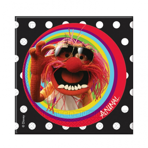 The Muppets Luncheon Napkins 33x33cm - Pack of 20-0