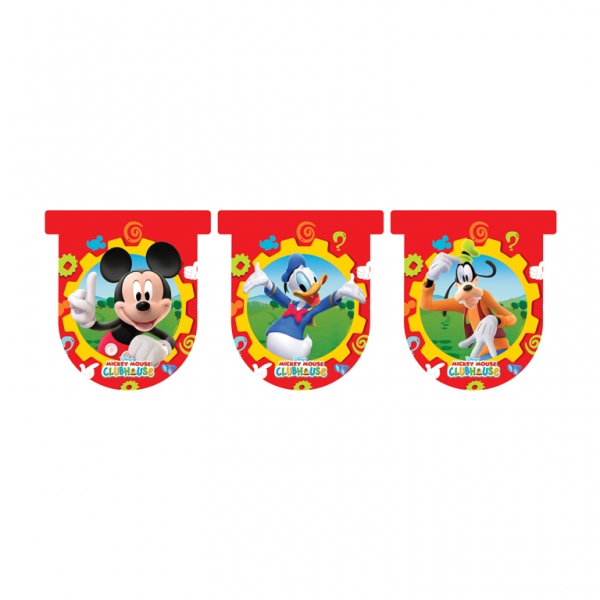 Mickey Mouse Clubhouse Die Cut Flag Banner - 3.2m x 26cm-0