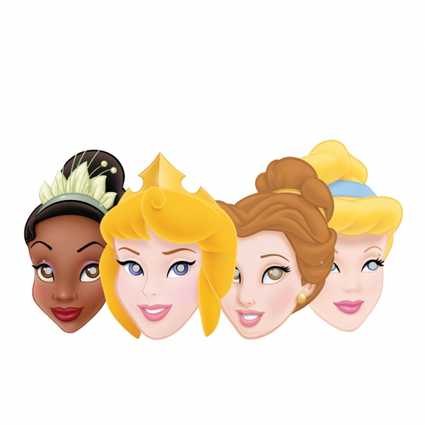 Disney Princess Journey Card Masks - Pack of 4-0