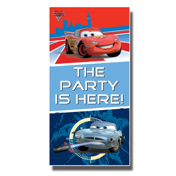 Disney Cars Party Here Door Sign - 1.65m x 85cm -0