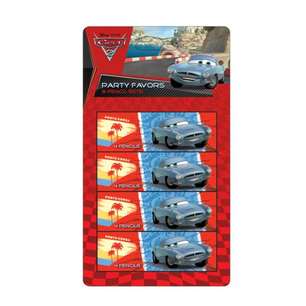 Disney Cars 4 Pencil Sets - Pack of 8-0