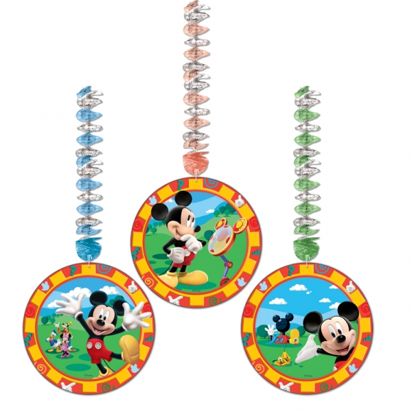 Mickey Mouse Dangling Cutouts - 1.2m x 23cm - Pack of 3-0