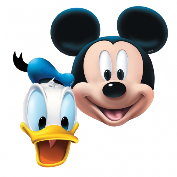 Mickey Mouse Face Masks - Pack of 4-0