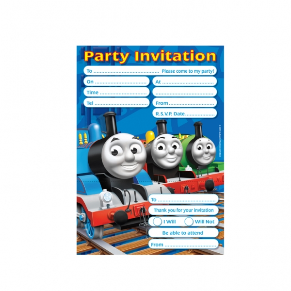 Thomas the Tank Engine Invitations & Envelopes - Pack of 20-0