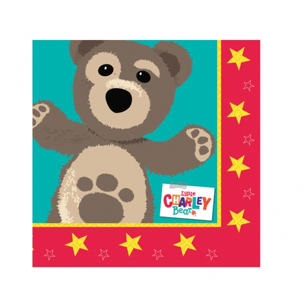 Little Charley Bear Luncheon Napkins - Pack of 16-0