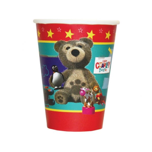 Little Charley Bear Paper Cups 266ml - Pack of 8-0
