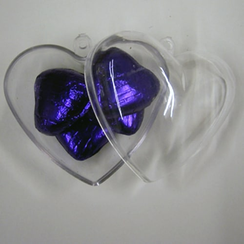 Clear Plastic Heart Favour Box-0
