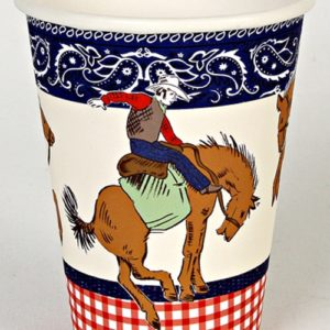 Howdy Cowboy Party Cups - Pack of 12-0