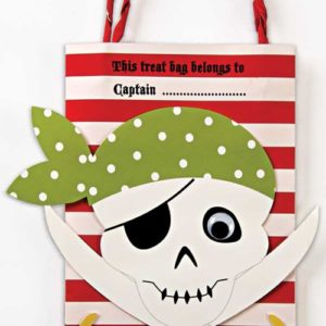 Yo Ho Ho Pirate Party Bags - Pack of 8 -0