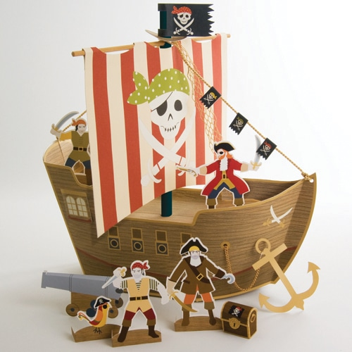 Yo Ho Ho Pirate Party Pirate Ship Centrepiece-0