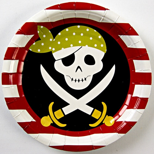 Yo Ho Ho Pirate Party Plates - Pack of 12-0