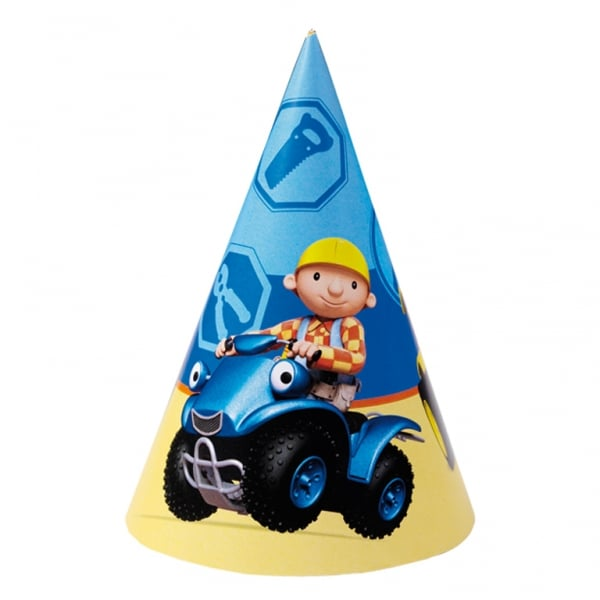Bob the Builder Cone Hats 16.5cm - Pack of 6-0