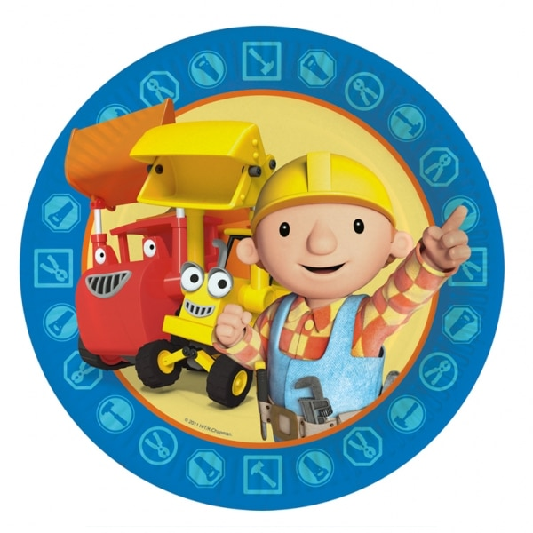 Bob the Builder Paper Plates 23cm - Pack of 8-0