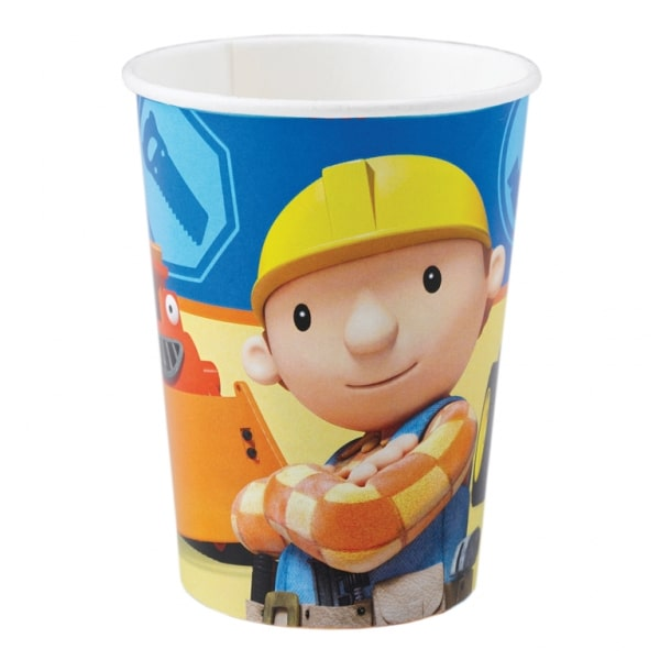 Bob the Builder Paper Cups 250ml - Pack of 8-0