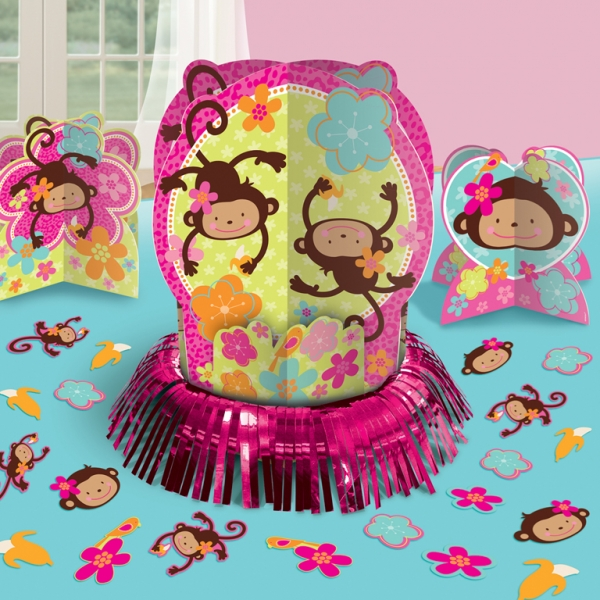 Monkey Love Table Decorating Kit and Centrepieces-0
