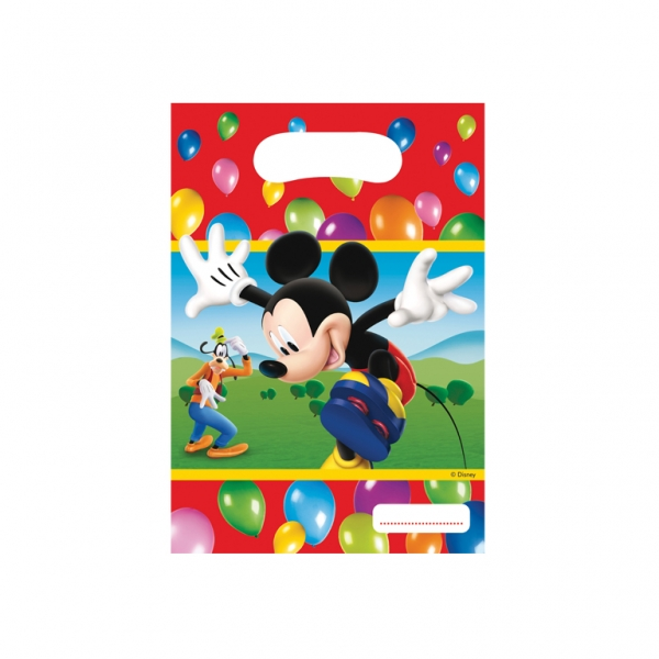 Mickey Mouse Party Bags - Pack of 6-0