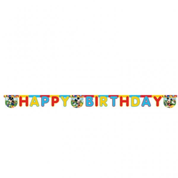 Mickey Mouse Happy Birthday Letter Banner - 2m x 15.5cm -0