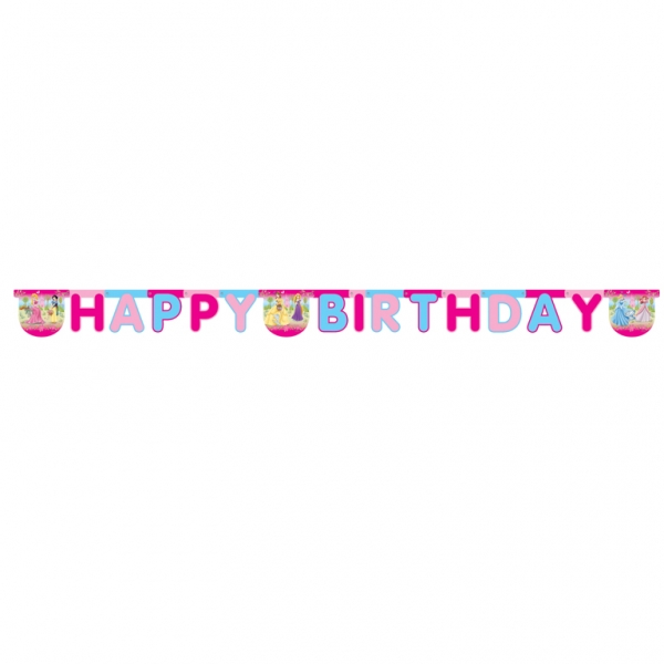 Disney Princess Happy Birthday Letter Banner - 2m x 15.5cm -0