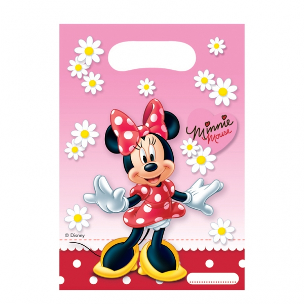 Minnie Mouse Polka Dots Party Bags - Pack of 6-0