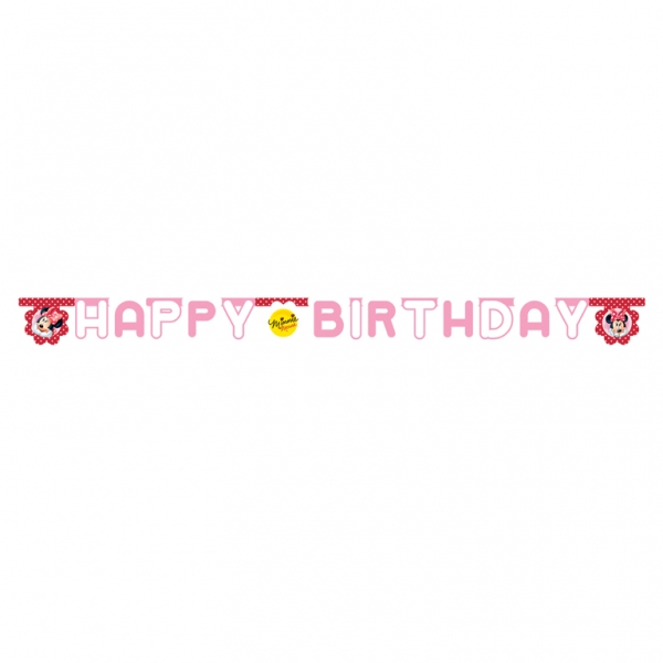 Minnie Mouse Polka Dots Happy Birthday Letter Banner - 2.2m x 15.5cm-0