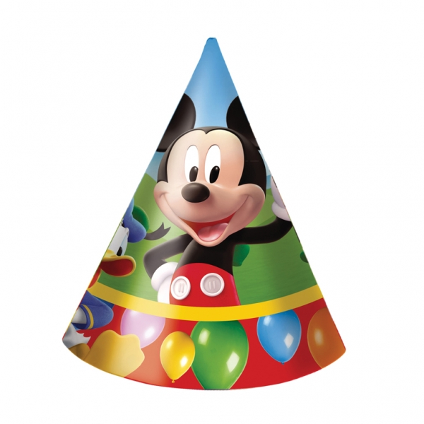 Mickey Mouse Cone Hats - Pack of 6-3218
