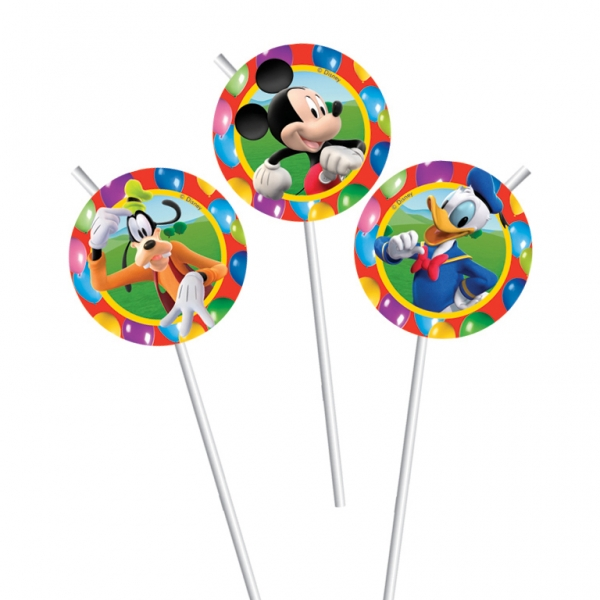 Mickey Mouse Drinking Straws - Pack of 6-0