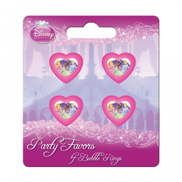 Disney Princess Journey Plastic Bubble Rings - Pack of 4-0